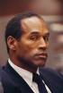 1995, Los Angeles, California, USA --- American former football player and actor O.J. Simpson during his trial for the murder of his wife Nicole Brown and her friend Ronald Goldman on June 12, 1994. --- Image by © Bill Nation/Sygma/Corbis