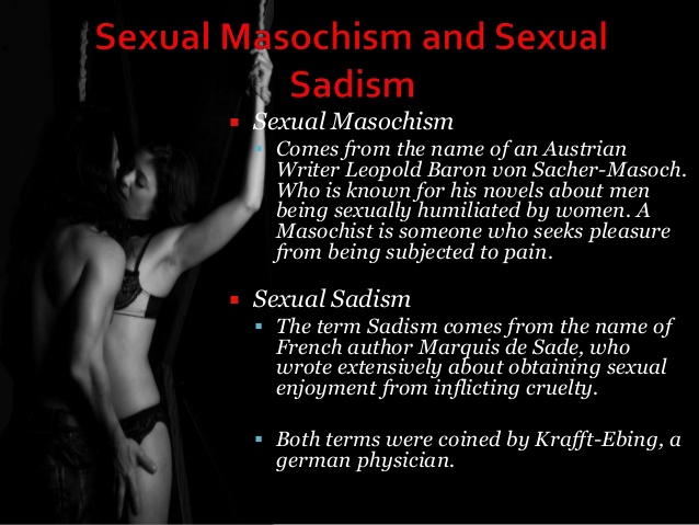 Deriving sexual pleasure from pain
